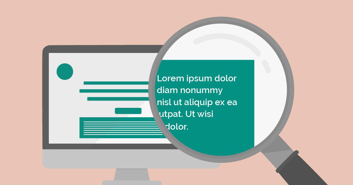 Illustrasjon av lorem ipsum i webprosjekter