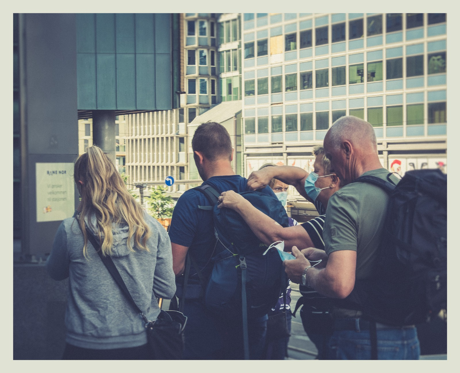 Group of people from behind in Oslo