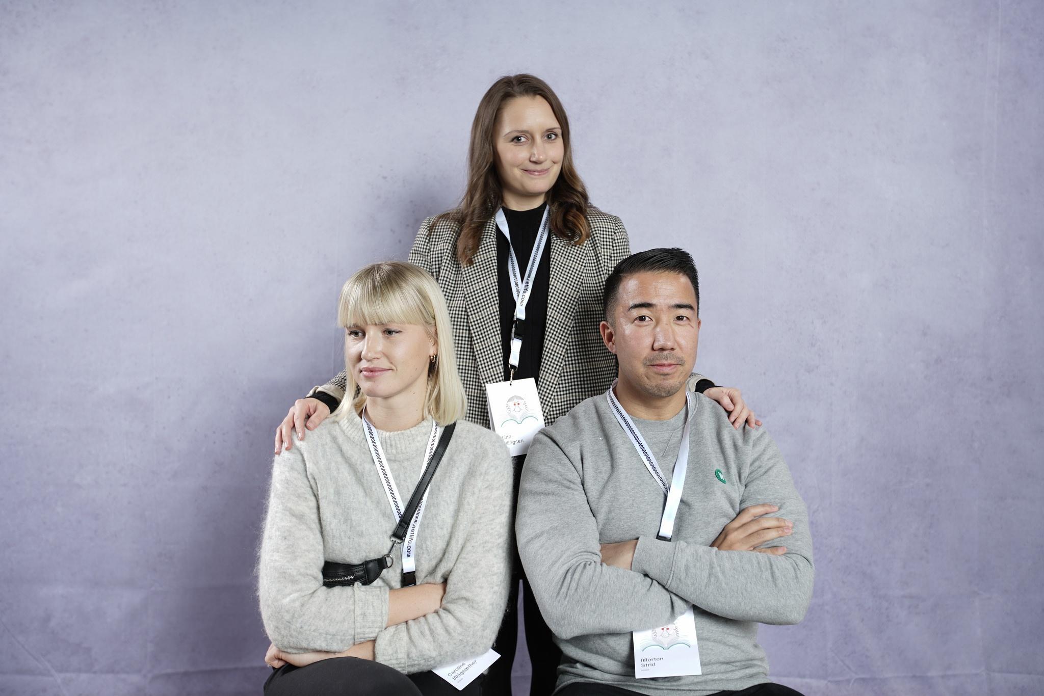 Klassebilde av Linn, Caroline og Morten