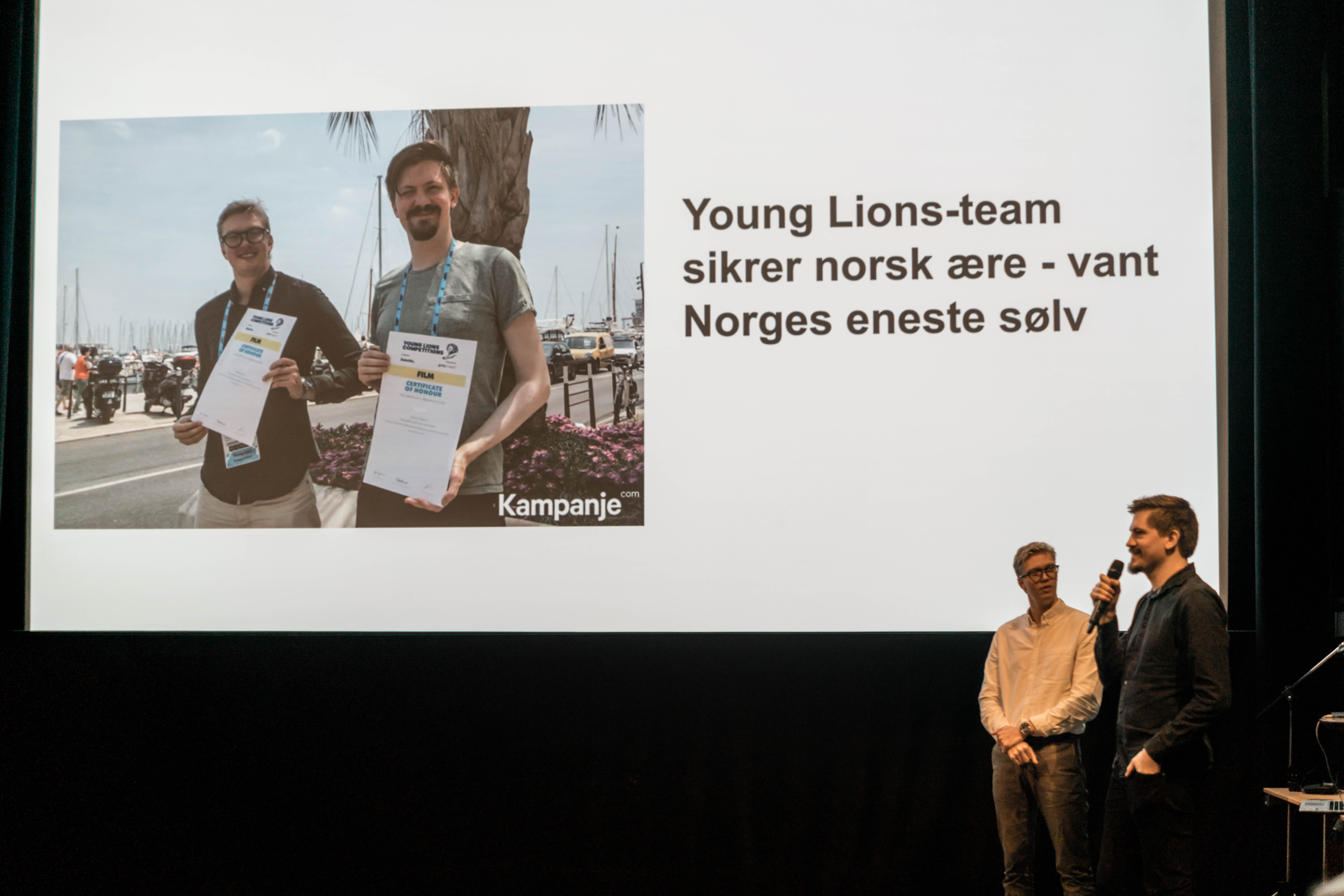 Martin Ruud og Andreas Servan på SRF fagfrokost om Cannes Lions
