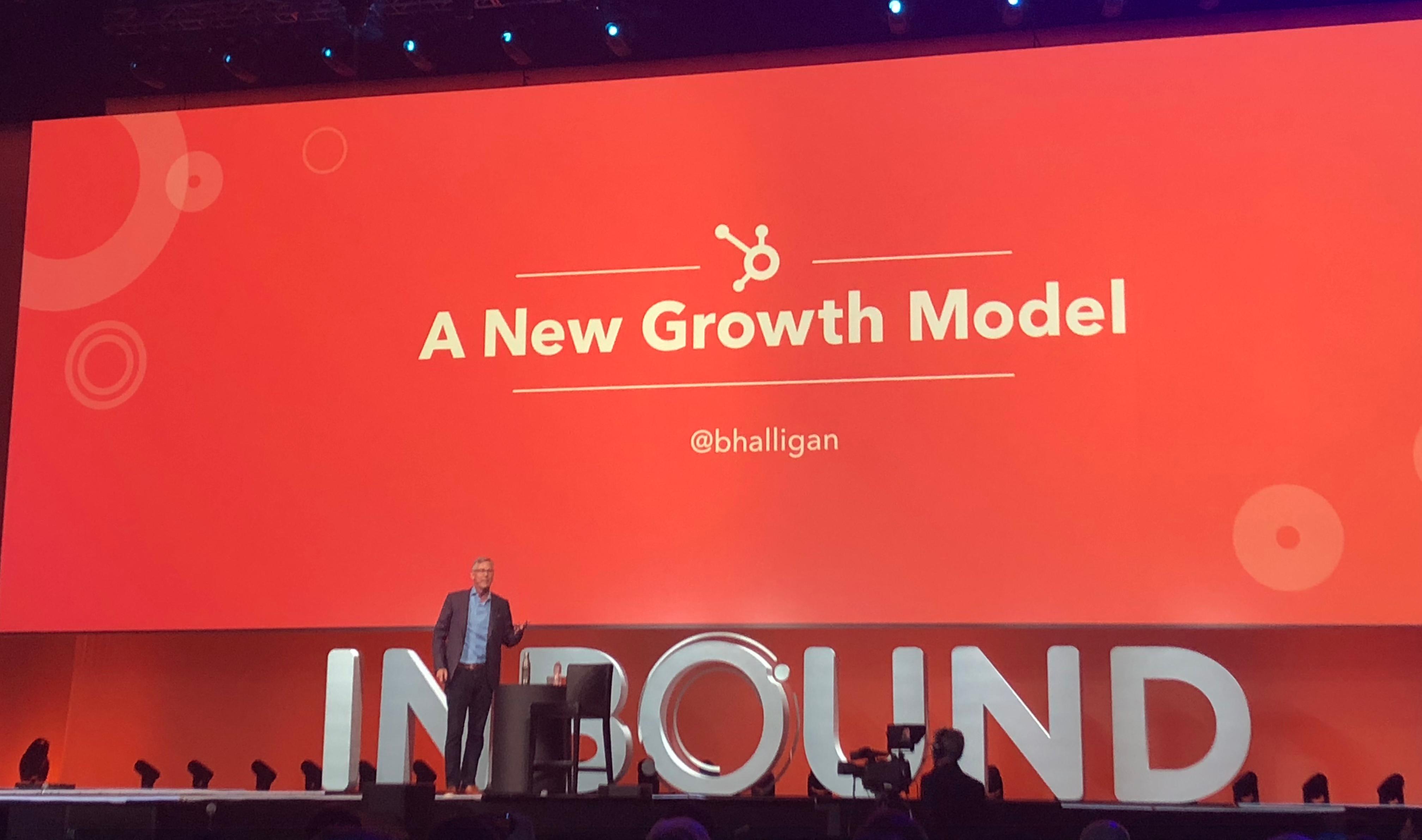 """Brian Halligan om """"a new growth model"""""""