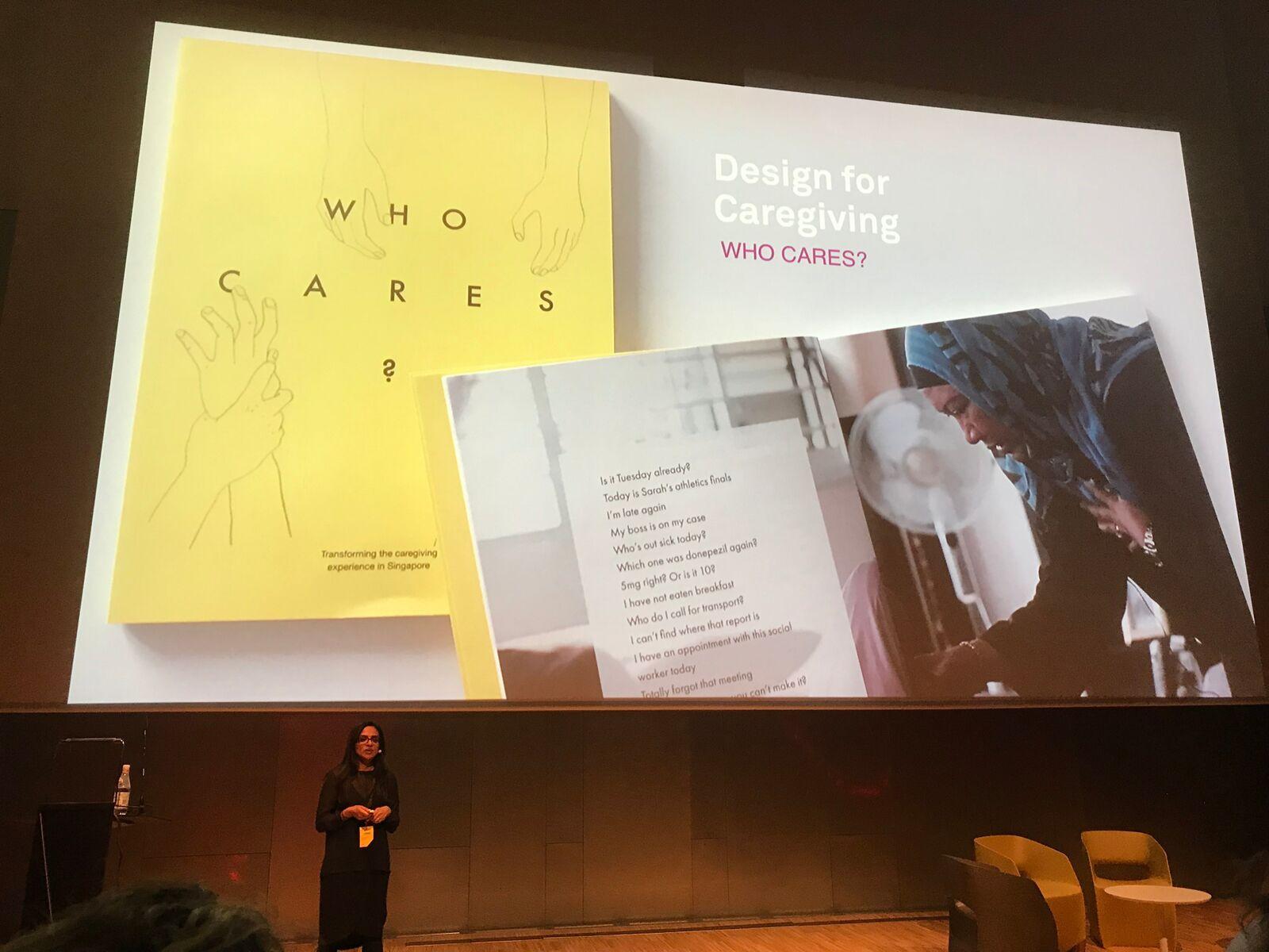 """Kvinne forteller om """"designing for caregiving"""""""